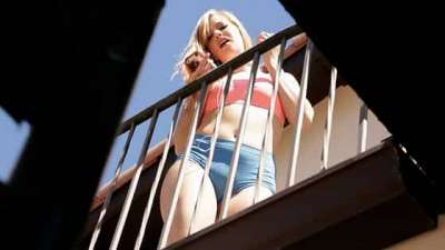 Dolly Leigh Window Watcher Gets His Wish