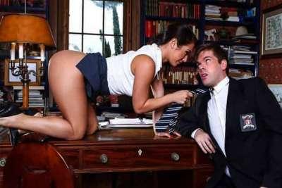 Eva Lovia The Headmistress