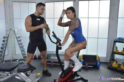 Horny gym student lusts after stud