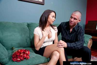 Chanel Preston fucking in the couch with her tits